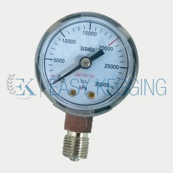 High Pressure Meter : Tesuco high pressure gauge easy kegging